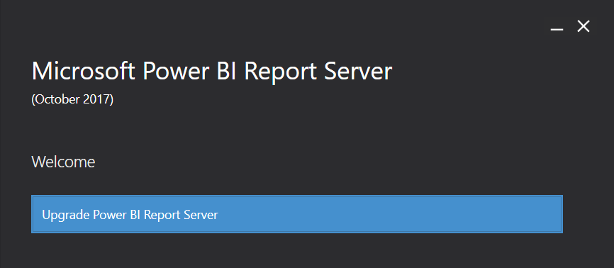 Upgrade Report Serveru